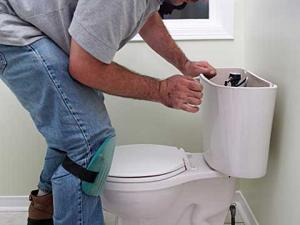 a Louisville plumbing professional was called to repair a broken toilet